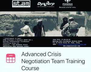 Advanced Crisis Negotiation Team Training Course @ Meeting Hall Occidental Aurelia Hotel
